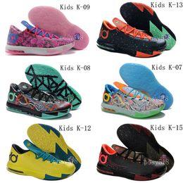 Kd chaussures de vente mens à vendre-KD6 Que les Chaussures Mens Basketball Hommes KDS 2014 Baskets New Cheap enfants KD 6 VI tante Perle / Supreme Hommes A Vendre