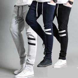 Wholesale Straight Leg Harem Pants - Spring Autumn Men's Cool Harem Trousers Skinny Pants Legging Straight Fit Sports Sweat Pants casual pants