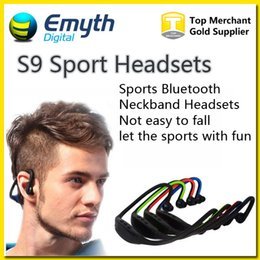 Bluetooth Headphone S9 Wireless Stereo Headset Sports Bluetooth Speaker Neckband Earphone Bluetooth 4.0 With Retail Package For iPhone