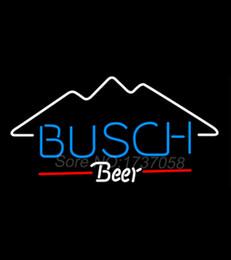 Signes de cow-boy à vendre-Busch Mountain Neon Signe de bière Avize Sign Tube verre réel Handicraft Beer Bar Dallaas Cowboys Jersey 32X18