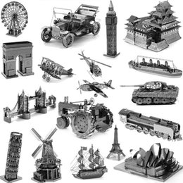 Wholesale PrettyBaby Star Wars Model Building Kits D Scale Models DIY Metallic Nano Puzzle Toys d building puzzle for kids adult christmas gifts