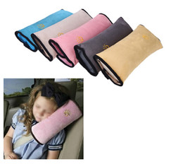 Wholesale Security Soft Children Car Seat Safety Belts Pillow Car Seat Cover Protection Cushion Protect Shoulder Neck Bedding Pillow Best gift