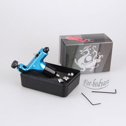 Wholesale New Blue Aircraft Alu Rotary Tattoo Machine Gun Quiet Motor Liner Shader Supply