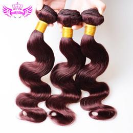 Rouge année 7A Rouge brésilienne péruvienne Malaysian Indian Body Vague Virgin Cheveux Extensions 99J Vins de Bourgogne Remy Hair Weave Trame 5 Bundles à partir de grade 7a vierges faisceaux de cheveux bresilien fabricateur