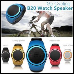 B20 Wireless Bluetooth Movement Music watch Portable Mini Watch Style Speaker +EDR Sport TF Card FM Audio Radio Speakers