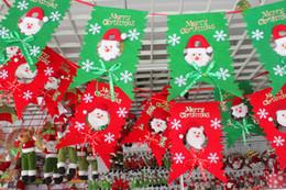 Wholesale Merry Christmas Decoration Flags Santa Clause Snowman Flags for Home KTV Bar Church Shopping Mall School Banquet Hall Corridor Xmas Decor