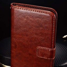 Wholesale-Luxury Wallet with Card Holder Stand PU Leather Case for Oneplus One Plus Phone Bag Vintage Cover Black Brown