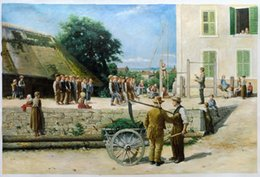 Wholesale Turnstunde in Ins by Albert Anker Large Wall Pictures for Living Room H