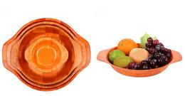 Wholesale Kitchen room supplies salad bowl sets Bamboo bowl wood plates creative woven bamboo bowl dinnerware sets