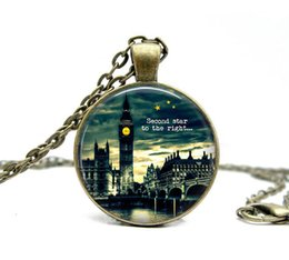 Wholesale Pendant Necklace quot Second Star to the Right quot Big Ben London Jewellery Peter Pan