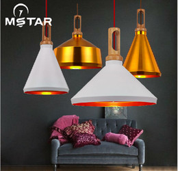 Wholesale Nordic IKEA Industry Chandelier Restaurant American country Creative Personality Art Single head Gold White Black Aluminum E27
