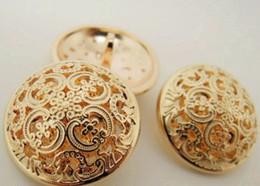 free shippment 24mm 75pcs lot pure metal rose gold button retro hollow suit dust coat buckles suit coat buttons shank
