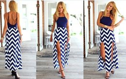 Wave Striped Long Summer Dress Female Sexy Back Cut Out Long Maxi Evening Party Dress Vintage Wave Striped Long Furcal Dress