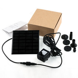 Wholesale 1set Professional Solar Power Fountain Pool Water Pump Garden Plants Sun plants watering outdoor Dropshipping
