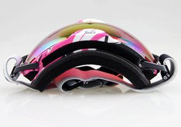 Wholesale-Free shipping PINK&WHITE BLACK FRAME SKI SNOWBOARD GOGGLES ANTI-FOG DOUBLE COLOURED LENS