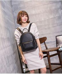 Wholesale Spring Fashion Classic MC Large C STARK MC BACKPACK VISETOS Shoulder Backpack Bag Rain girlhood Element Rivets Love Backpack Bag colors