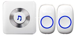 Wholesale L H S Premium Range Up to M Feet Portable Wireless Door Bell Chime and Push Button W Chimes Volume Levels