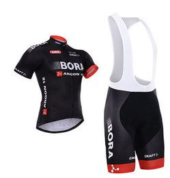 2015 BORA - ARGON 18 TEAM BLACK B46 Short Sleeve Cycling Jersey Bike Bicycle Wear + BIB Shorts Size XS-4XL