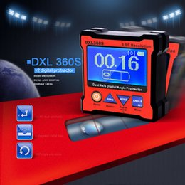 Wholesale New DXL360S Dual Axis Digital Angle Protractor with Side Magnetic Base High precision Dual axis Digital Display Level Gauge E0916