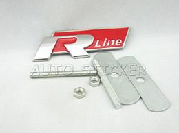 Wholesale Car Styling R Racing SR Rline Car Front Grille Emblem Sticker For Volkswagen Jetta MK5 MK6 Polo Golf CC Touareg Tiguan Passat Scirocco