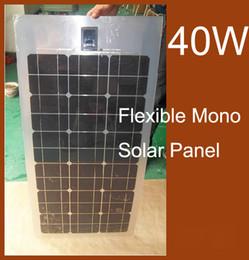 40W Semi Гибкая панель солнечных батарей Kit Модуль монокристаллического кремния фотоэлектрические панели солнечных батарей DIY Водонепроницаемая Энергетическая система от Поставщики flexible solar panel