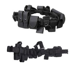 Wholesale Multifunctional outdoor Training duty belt Security Belts Holster Magazine Pouch Set Black Airsoft Tactical Belt