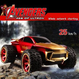 Wholesale New Iron Man RC Car Avengers Racing Remote Control Car Device Remote Control model toys SUV Children s Toy Car