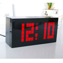 Creative LED Modern Led Digital Snooze Wall Table Alarm Clock Calendar Thermometer older younger Business Office