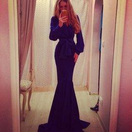 Wholesale Plus XL Top Design Lady Fashion Floor Length Dress Long Sleeve Mermaid Dress Deep V neck with Bow belt Elegant Women Evening