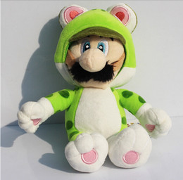 18cm Super Mario 3D Super Mario Bros Green Cat Luigi Plush Doll Toy for kids Free Shipping