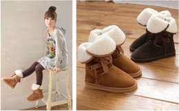 Wholesale Cheap Big Boots - Wholesale-[Free Shopping][Big Sale]HOT ! Cheap snow boots Women's Winter boots for ladies fashion snow boots Shoes Warm