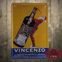 Wholesale TIN SIGN Vincenzo Beer Metal Decor Wall Art Farm Store Kitchen