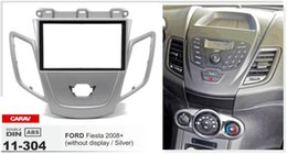 CARAV 11-304 Car Radio Fascia Panel for FORD Fiesta 2008+ wo display (Silver) stereo face facia surround trim Kit for