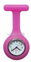 50PCS lot silicone nurse doctor watches pin watch silicone nurse fob hang nurse watch fee dhl shipping