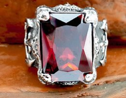 Free Shipping Fine Fashion Personality Ruby Ring , Ring Width Domineering Men silver Ring Finger