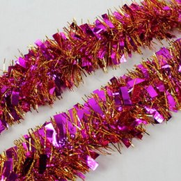 MIC 10pcs 2 m Rose Red Color Aluminum foil Color Bar Festivals Decoration Christmas Halloween decoration