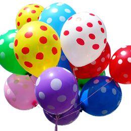 Wholesale Hot Marketing inch Mixed colors Helium Inflatable Latex Balloons Polka Dot Pearl Ball May18