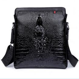 Wholesale price best selling business casual man bag crocodile pattern leather shoulder bag Messenger Bag