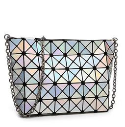 Wholesale Fashion Fold Over Bag Women Messenger Bag e Bao Bao Geometry Handbag Diamond Lattice Chain Shopping Bag