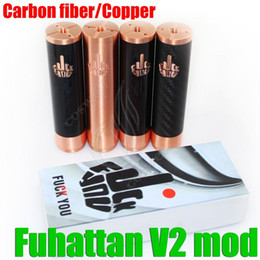 Acheter en ligne Fuhattan v2-Top qualtiy Modules Fuhattan V2 pleine mod modique fibre de carbone FU * CK YOU logo mech mod 1: 1 clone 18650 batterie Manhattan Phenom AV Apollo DHL