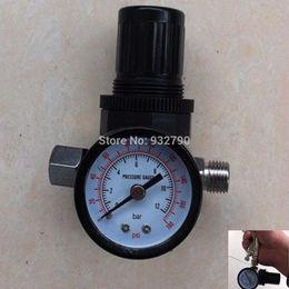 Wholesale HVLP Pneumatic Spray Gun Air Regulator Pressure Gauge Auto Paint Air Regulator Spray Gun Adjustable Regulating Gauge Air Tool order lt no tr