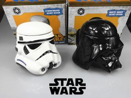 Wholesale EMS New Star Wars cups Darth Stormtrooper D Ceramic water bottles tea cup Creative Gift Cartoon Children Christmas Gift with box E324