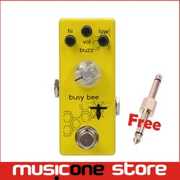 Wholesale Movall Audio Mini distortion pedal MM Busy bee Preamp Boost Micro Pedal True bypass MU0512