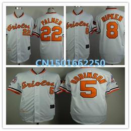 Wholesale 2015 Fashion New Film Style Baseball Jersey Baltimore Orioles Brooks Robinson Cal Ripken Jim Palmer s Throwback Jersey