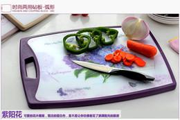 Wholesale Duplex antibacterial plastic cutting board bamboo cutting boards circular arc shaped fruit cutting board Ganmian board
