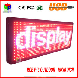 Wholesale P13 Fully Outdoor x quot FULL COLOR Programmable LED Sign Commercial IMAGE TEXT SCROLLING Message Board Display for Window