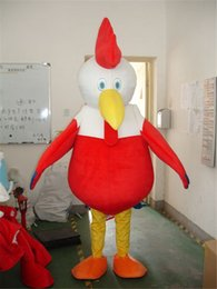 Wholesale Red Chicken Christmas Mascot Costume Fancy Dress Adult Size Cartoon Dress Rooster Mascot Costume Halloween Christmas Party Dress