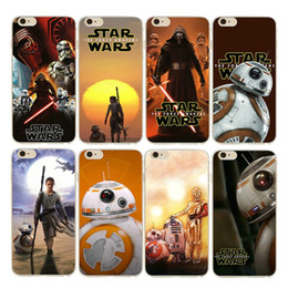 Wholesale Star Wars war starwars case The force awakens darth vader BB BB8 robot tpu soft cases back cover for iphone s plus s