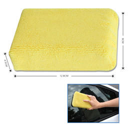 Wholesale Car Stying Professional Microfiber Car Cleaning Sponge Cloth Multifunctional Wash Washing Cleaner Cloths Yellow K3723