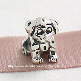 Hot 100% 925 Sterling Silver Lucky The Dalmatian Charm Bead Fits European Style Jewelry Bracelets Necklaces & Pendants